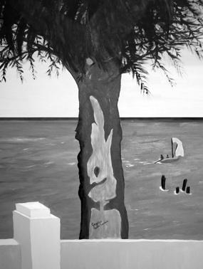 Praia Morena ( Quadro do próprio escritor Gregório Semedo)