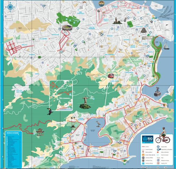Mapa cicloviário do Rio de Janeiro
