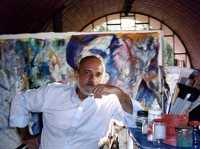 Odilon Cavalcanti no seu atelier