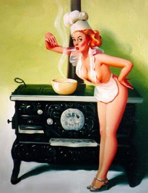 Assim qualquer homem vai para a cozinha!