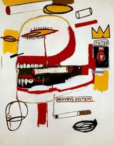 Um cartão feito por Basquiat