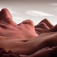 Artist Creates Desert Landscapes From Human Bodies