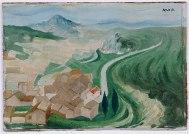 ALDEIA E MONTE, c. 1938, Óleo sobre tela. 22 x 31,3 cm