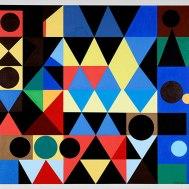 COMPOSIÇÃO GEOMÉTRICA, c. 1947, óleo sobre tela. 94 x 104,3 cm