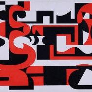 COMPOSIÇÃO ROUGE, 1959, óleo sobre tela, 70 x 100cm