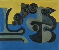 DEMOGORGON, 1947, Óleo sobre tela de serapilheira. 63,7 x 74,1cm