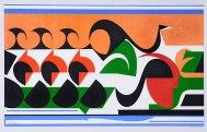 FRISO DO FALCÃO, c. 1950, óleo sobre tela. 82,3 x 127,5 cm