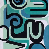LES SPIRALES, 1954, óleo sobre tela. 84,4 x 67,2 cm