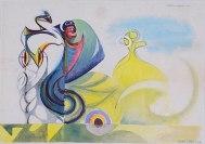 METAMORFOSES, 1943, guache sobre papel. 24 x 32,4 cm
