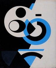 SPIRALE BLEUE, 1954, Gliceroftálicas sobre platex. 67,4 x 56 cm