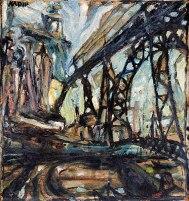 VILA NOVA DE GAIA, c. 1942, Óleo sobre tela. 51,5 x 48,8 cm